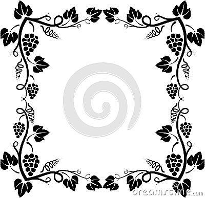 Illustration Stock Cadre De Vigne Image46450077