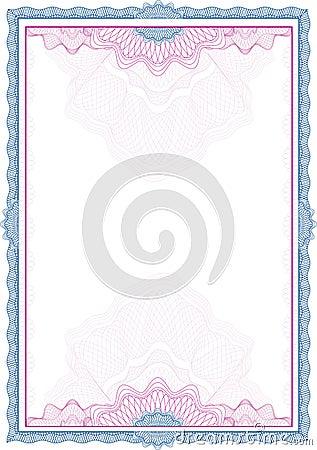 Cadre/diplôme/certificat classiques de guilloche