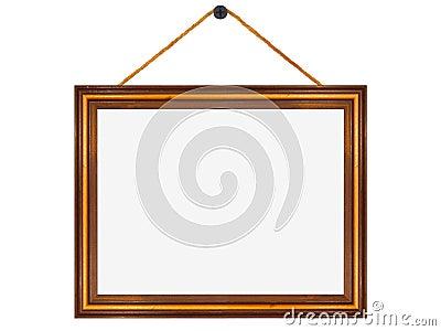 cadre en bois accroch d 39 un clou photo stock image 41850146. Black Bedroom Furniture Sets. Home Design Ideas