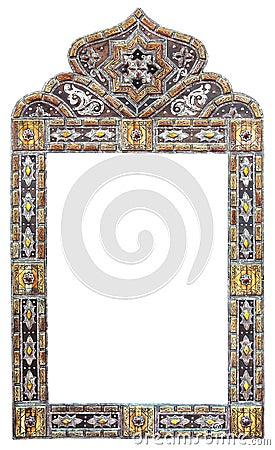 Cadre marocain de miroir images libres de droits image for Miroir marocain