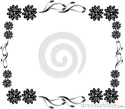 cadre noir d coratif de fleur image stock image 21579921. Black Bedroom Furniture Sets. Home Design Ideas