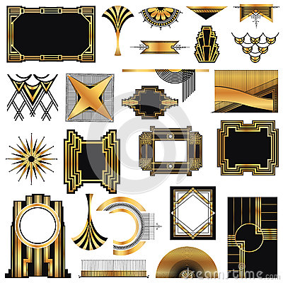 cadres d 39 art deco vintage illustration de vecteur image 38872957. Black Bedroom Furniture Sets. Home Design Ideas