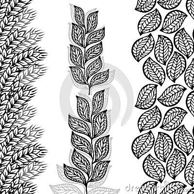 Cadres floraux, sans joint par verticale