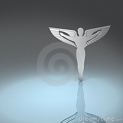 Caduceus in silver