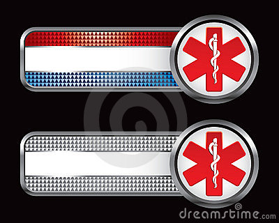 Caduceus symbol on specialized banners