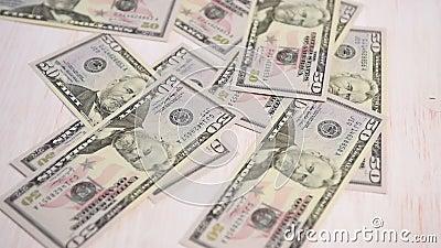 Caduta delle fatture del dollaro video d archivio