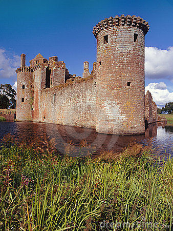 Caerlaverock Castle, Scotland Stock Images - Image: 23245324