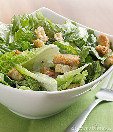 Free Caesar Salad Closeup Royalty Free Stock Photos - 19611198