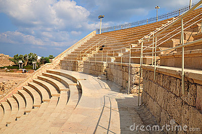 Caesarea amphitheater .