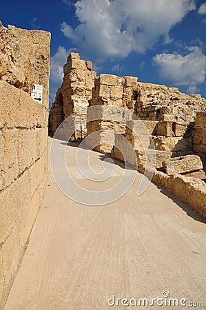 Caesarea amphitheater passage.