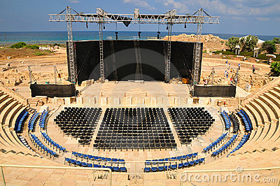 Caesarea Amphitheater View. Stock Images - Image: 21154114