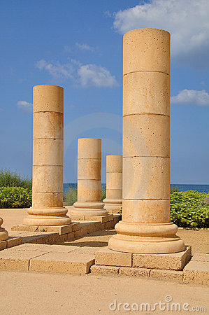 Caesarea Columns. Stock Photo - Image: 21154250