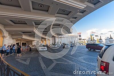 Caesars Palace hotel main entrance Editorial Stock Photo