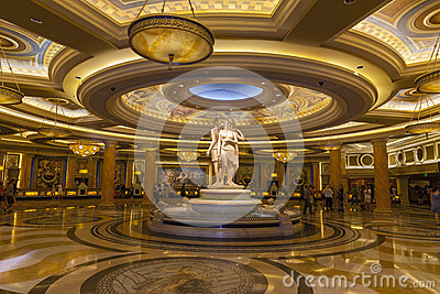 Caesars Palace Lobby in Las Vegas, NV on June 26, 2013 Editorial Stock Photo