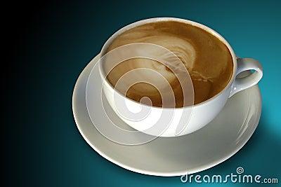 Café (cappuccino) com arte de Latte