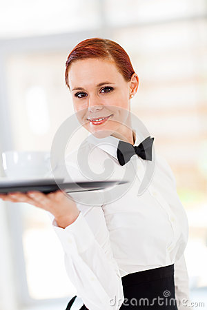 Café De Portion De Serveuse Photos stock - Image: 28637463