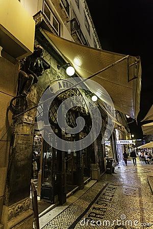 Café a brasileira Editorial Photography