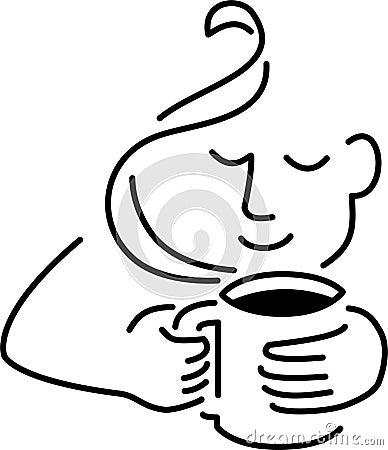 Café de consumición del hombre
