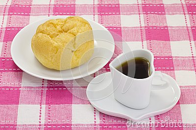 Café e um sopro de creme