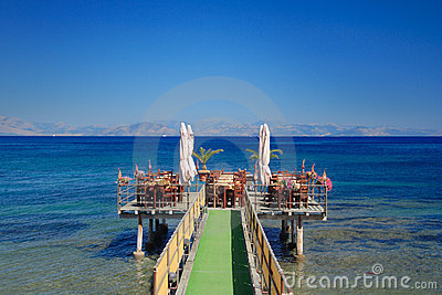 Café at open sea