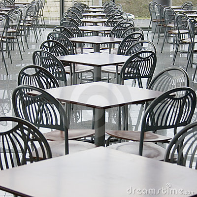 Café in shopping center
