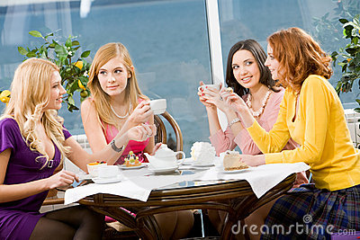 In the cafe