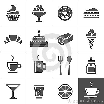 Free Cafe And Confectionery Icons Stock Photo - 42435790