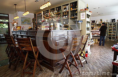 Cafe bar Editorial Stock Photo