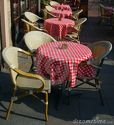 Cafe bar tables and chairs