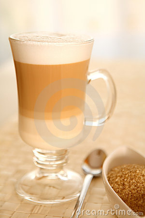 Free Cafe Coffee Latte In A Glass Stock Photos - 4741533