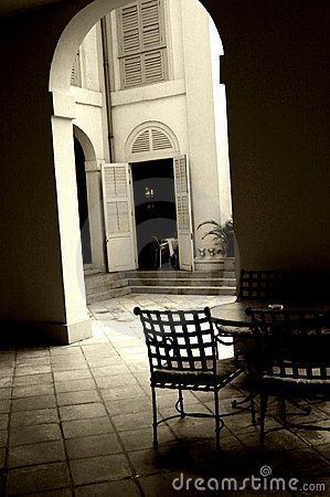 Cafe in a court yard