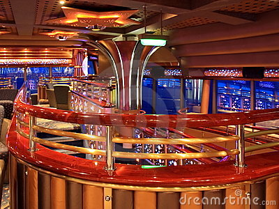 Cafe on the cruise ship