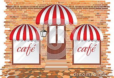 Cafe facade (click image to royalty