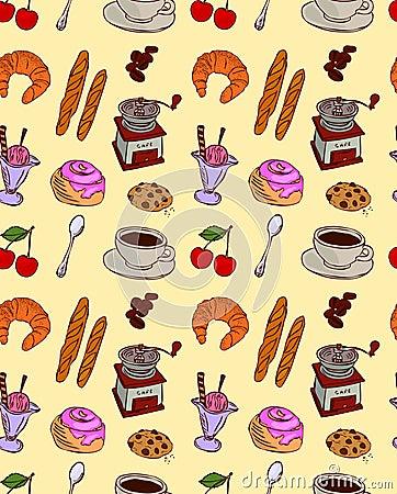 Cafe food pattern
