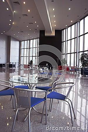 Cafe modern lounge interior