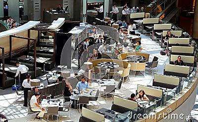 Cafe landmark restaurant, hong kong Editorial Stock Photo