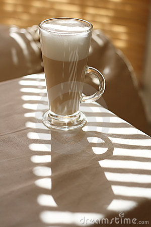 Cafe Latte in a tall glass