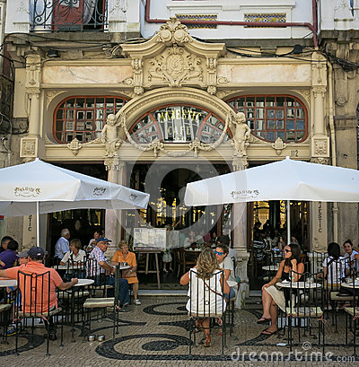 Cafe Majestic in Porto Editorial Photo