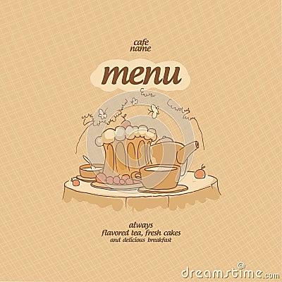 Cafe menu.