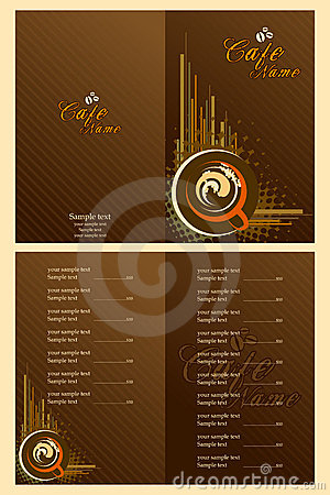 cafe menu card template royalty free stock photos image