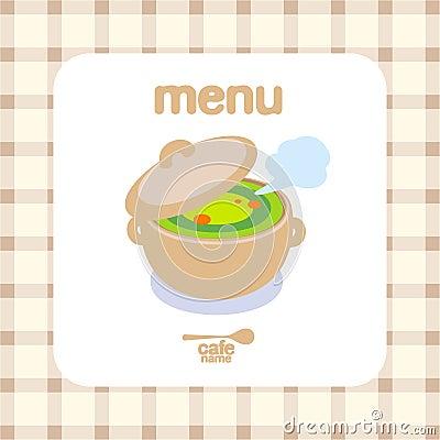 Cafe Menu Design template.