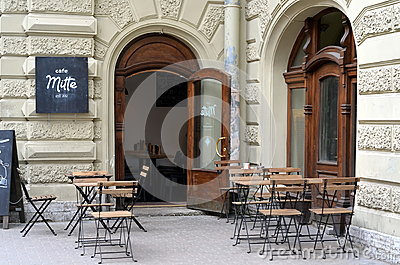 Cafe Mitte in Saint-Petersburg, Russia Editorial Stock Image