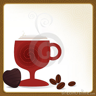 Cafe Mocha Frame Stock Photo - Image: 7660190