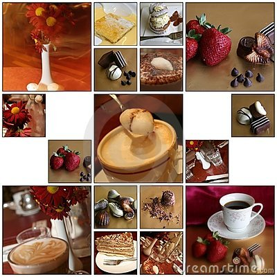 Free Cafe Montage Royalty Free Stock Photo - 7330525