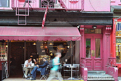 Cafe in New York City Editorial Photography