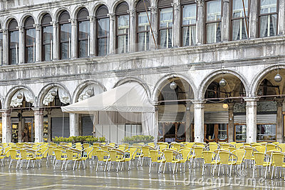 Cafe in the Piazza San Marco
