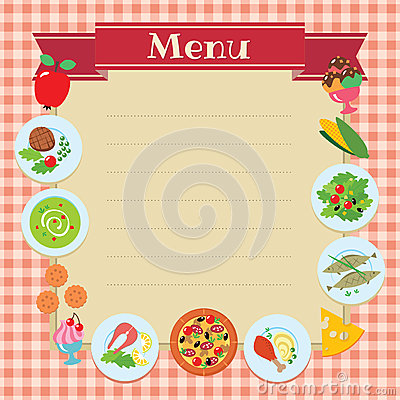 Cafe Or Restaurant Menu Template Royalty Free Stock Photo ...