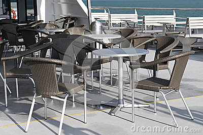 Cafe on the ship