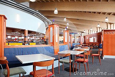 Cafe for skiers Editorial Stock Image