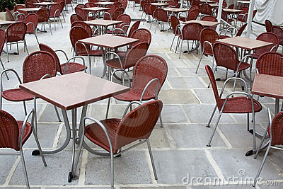 Cafe square tables